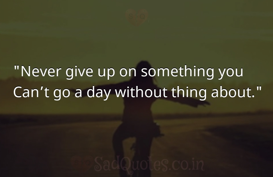 Never give up on  - Inspirational Quotes