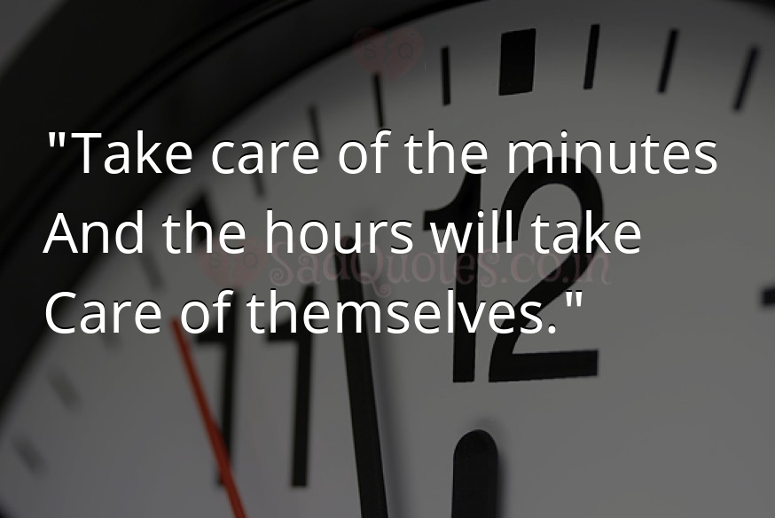 Take care of the minutes